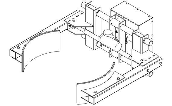 Elektrische Lineair Grijper RVS EG6-D Zijwaarts kantelen Hovmand tilhulp E300R