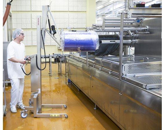 Hovmand Verrijdbare Tilhulp Inox 200 met rollenkantelaar VER