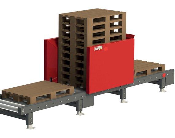 Palletautomaat geintegreerde palletstapelaar