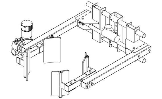 Elektrische grijper lineair RVS EG8-C voorwaarts kantelen Hovmand tilhulp INOX200