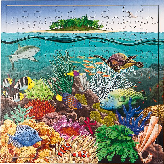 Puzzel Koraal zee interactief