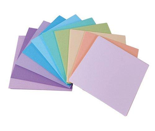 Vouwkartons, pastel, 130 g/m², 10x10cm.