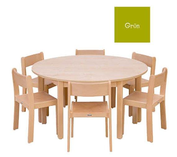 Tisch-Stuhl-Kombination Rondo
