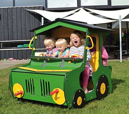 Traktor (in grün und rot lieferbar)