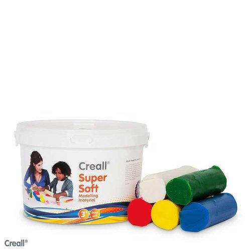 Creall Knete Supersoft 5 Farben sortiert.