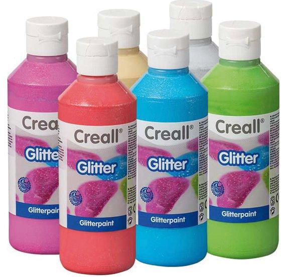 Creall-Glitter 250 ml, silber