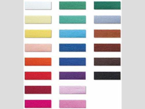 Crêpepapier 17 kleuren a 10 vouw assortie.