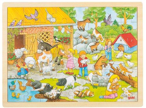 Einlegepuzzle Streichelzoo 48 teilig