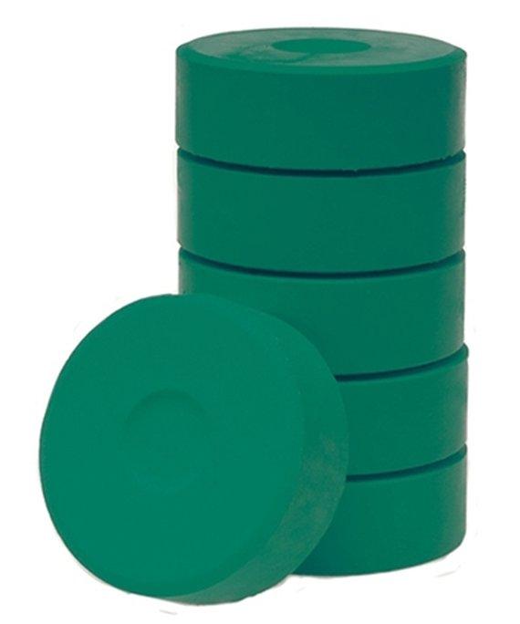 Wasserfarbe-Pucks dunkelgrün 55mm. 6 Stück