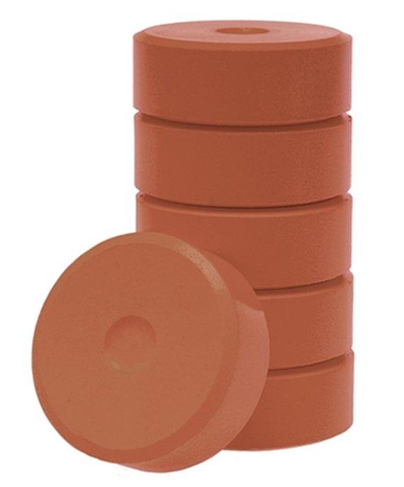 Wasserfarben-Pucks hellbraun 55mm. 6 Stück