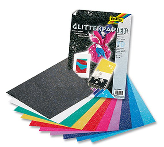 Glitterpapier.