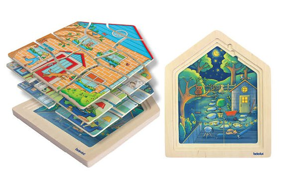 4-Lagenpuzzle Zuhause