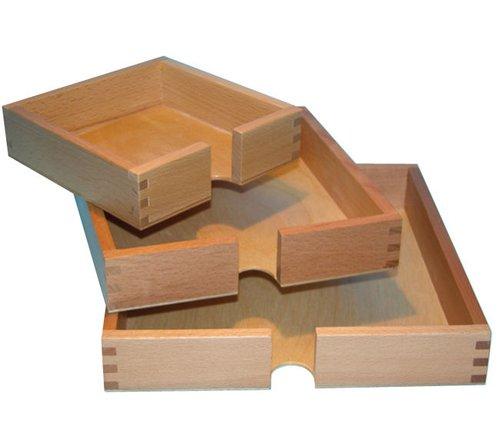 Faltblätterkasten Holz 20x20cm.