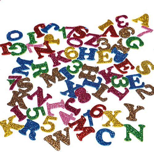 Moosgummi Glitter Buchstaben und Zahlen