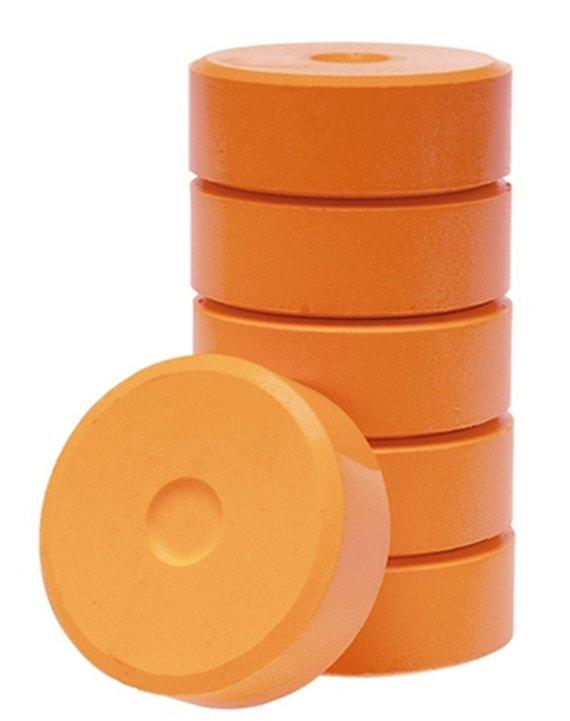 Wasserfarbe-Pucks orange 55mm. 6 Stück