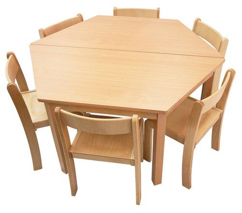 Tisch-Stuhl-Kombination Trapez