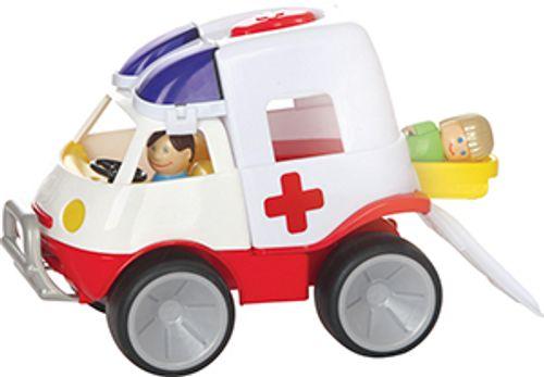 Krankenwagen mit Figuren