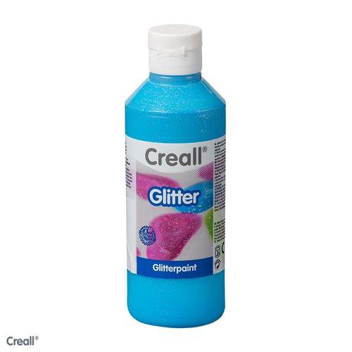 Creall-Glitter 250 ml, blauw