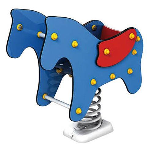 Federwippe Fohlen mit Rückenlehne