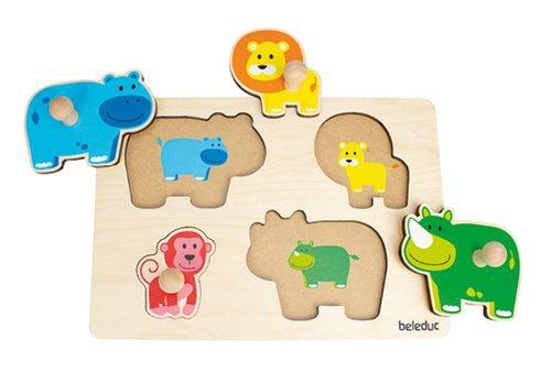 Knopfpuzzle Tiere