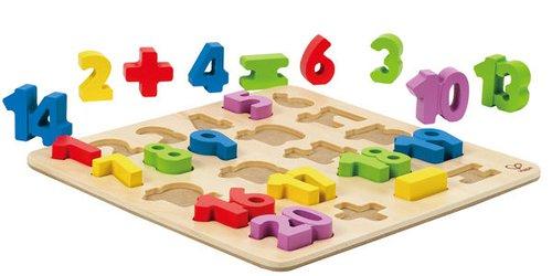 Zahlenpuzzle Holz
