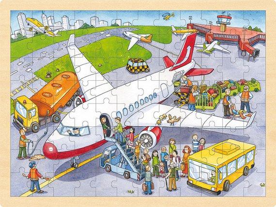 Einlegepuzzle Flughafen