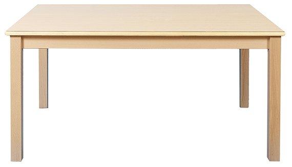 Tisch Rechteck 120x80cm. Ahorn hell