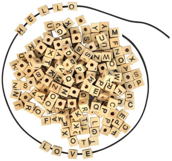 Buchstaben Holzperlen