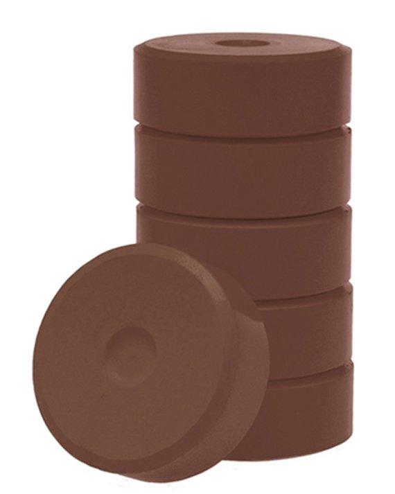 Wasserfarbe-Pucks braun 55mm. 6 Stück
