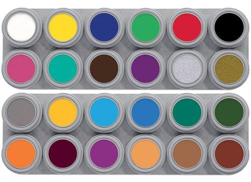 Grimeer etui 24 kleuren á 3 ml