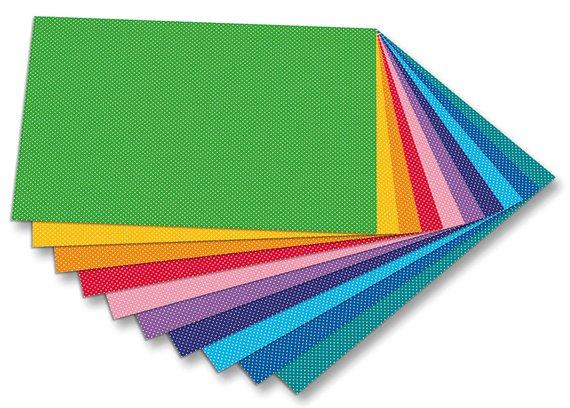 Motiekarton punten dik, 300g karton in 10 prachtige kleuren Formaat 50x70cm. 4720 Motiefkarton punten € 8,95