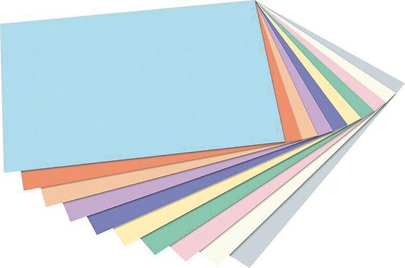 Tonpapier Pastellfarben in 50x70cm.