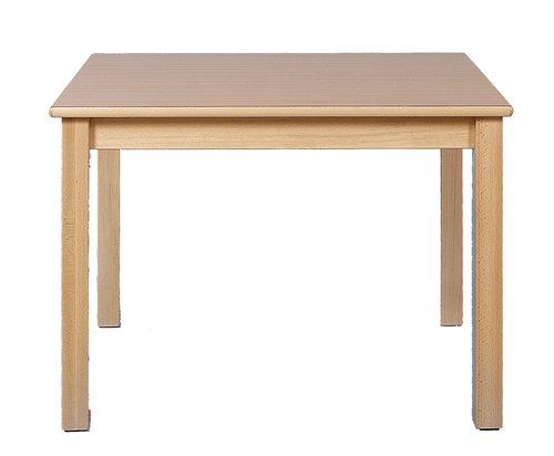 Tisch Rechteck 80x60cm. Buche hell