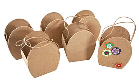 Ei-förmige Taschen (6) aus Karton