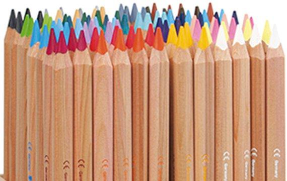 Kleurknotsen/Super Ferby, ongelakt, 16 kleuren á 1 dozijn