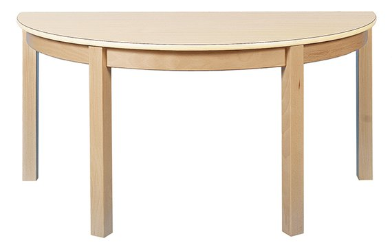Tisch Halbrund 120x60cm.