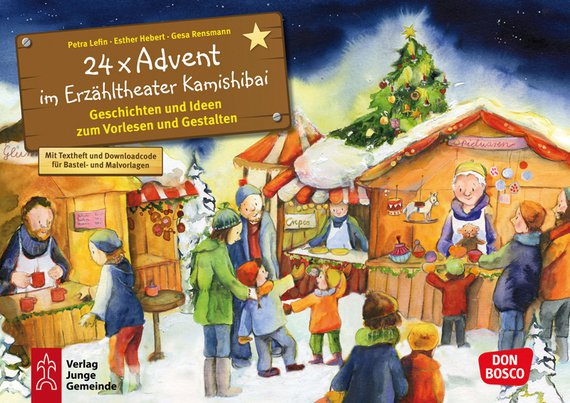 Kamishibai Bildkartenset 24 x Advent im Erzähltheater