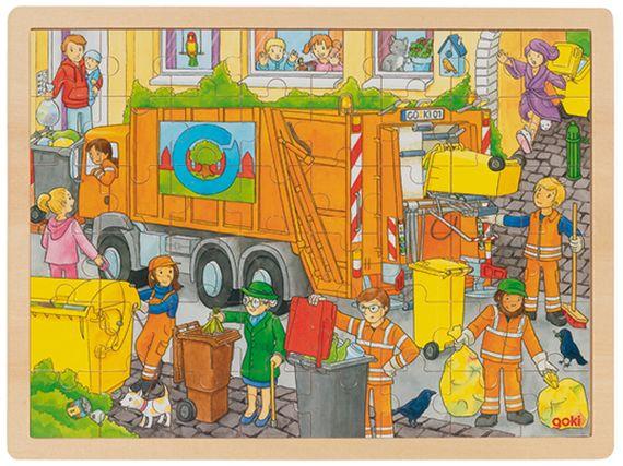 Einlegepuzzle Müllabfuhr 48 teilig