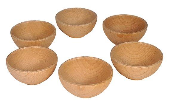 Holzschalen 6-er Set
