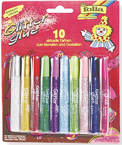 Glitter-glue 10 Farben.