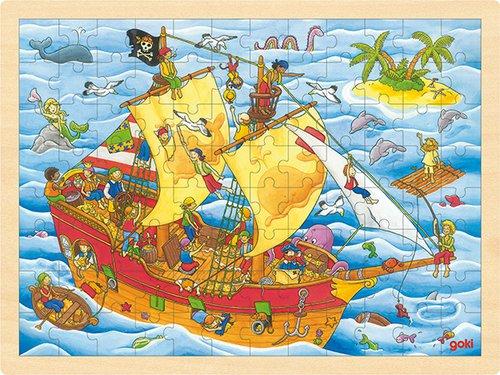 Einlegepuzzle Piraten 96 teilig