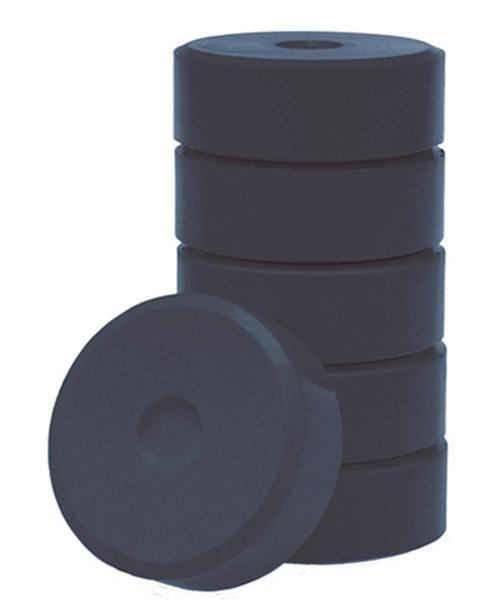 Wasserfarbe-Pucks schwarz 55mm. 6 Stück