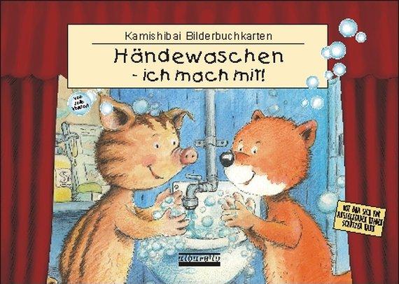 Kamishibai Hände Waschen, ich mach mit.