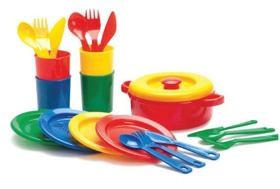 Speiseservice Kunststoff 21 Teilig