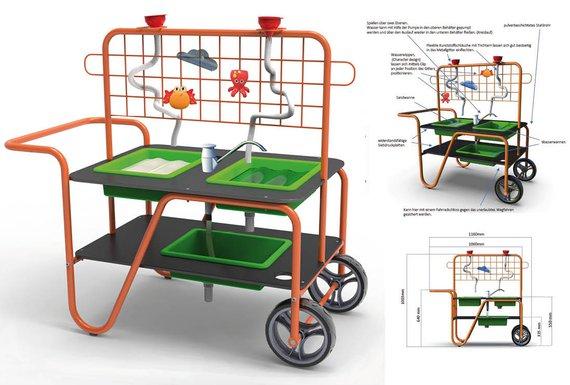 Sand-Wasser-Tisch mobil