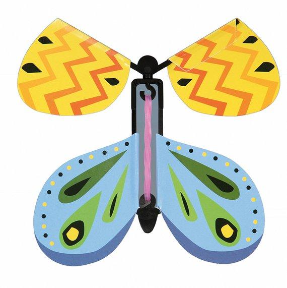 Vlinder met elastiekmotor