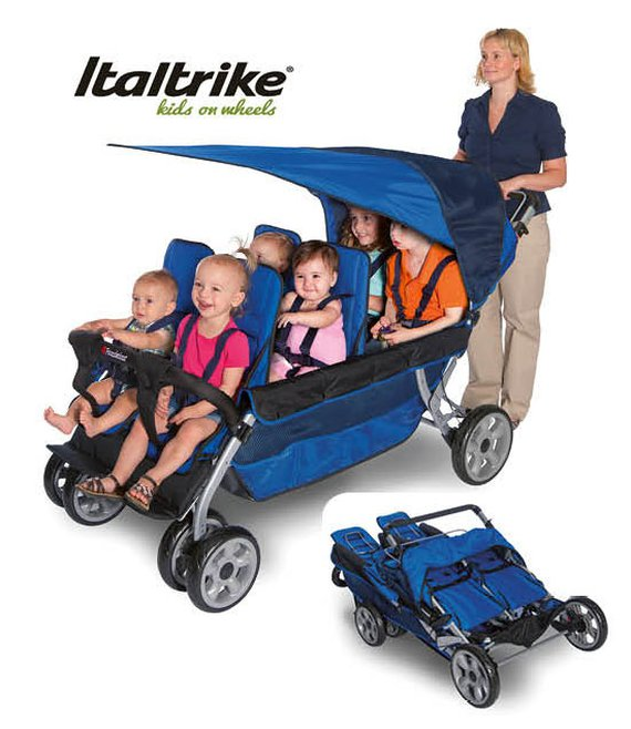 Italtrike Buggy LX Stroller für 6 Kinder