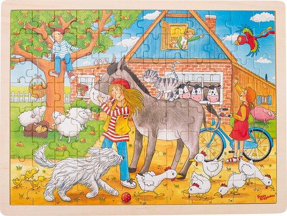 Puzzle Peggy auf dem Bauernhof