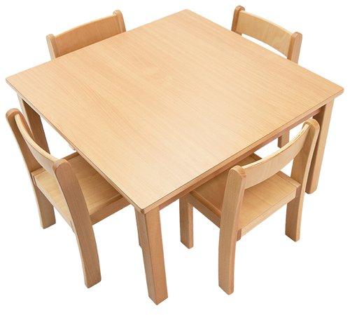 Tisch-Stuhl-Kombination Quadra