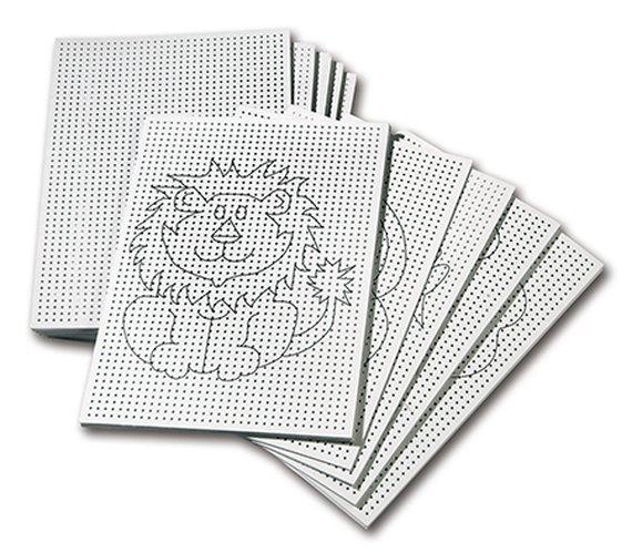 Borduurkarton/Gaatjeskarton wit bedrukt